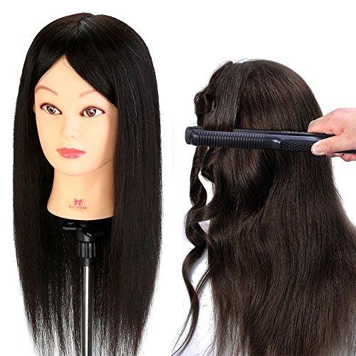 Neverland 20 inches 100% Vrais Cheveux Têtes d'exercice Mannequin d'apprentissage pour Salon de coiffeur
