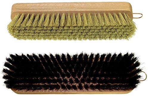 delara-due-spazzole-di-alta-qualit-per-lucidare-in-setole-naturali-colori-nero-e-naturale