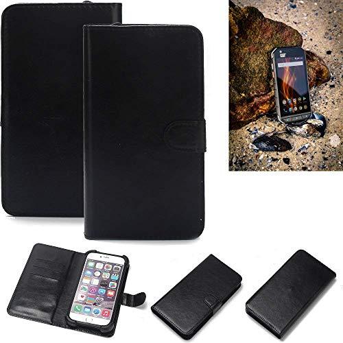 K-S-Trade 360° Wallet Case Handyhülle für Caterpillar Cat S31 Schutz Hülle Smartphone Flip Cover Flipstyle Tasche Schutzhülle Flipcover Slim Bumper schwarz, 1x
