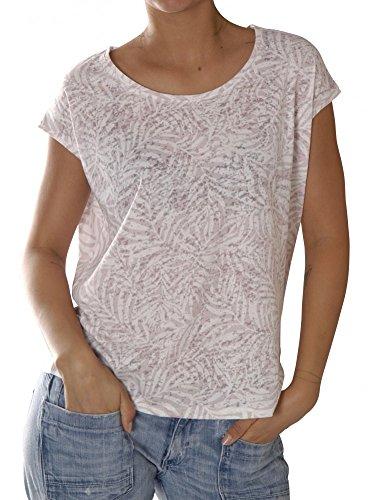 Catwalk Junkie Damen T-Shirts Ts Summer Leaves Misty Rose - USP 1702020220-452 Misty Rose M Misty Leaf