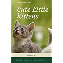 Cute Little Kittens Photo Book Vol.1: 100+ lovely moments of cute little kittens  (Kitten Photo Book 01) (English Edition)
