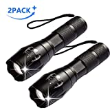 AUSPICE LED Flashlight, Tactical Flashlight 5 Lights Modes Ultra-Bright zoomable IP65 Waterproof Handheld
