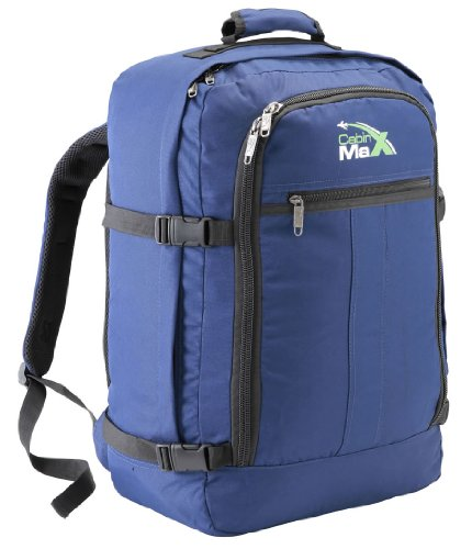 Cabin Max Backpack Flight Approved Carry On Bag Massive 44 litre Travel Hand Luggage 55x40x20 cm – Metz Navy