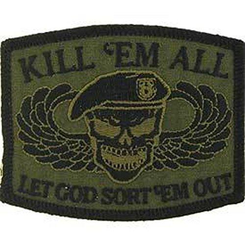 eagleemblems patch-kill 'em ALLE, Let God () (3-3/20,3cm), grün, 20,3cm (Em All Kill Patch)