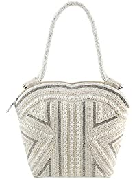 MOCHI Women OFF/WHITE Synthetic Tote Bag (38-4697MY)