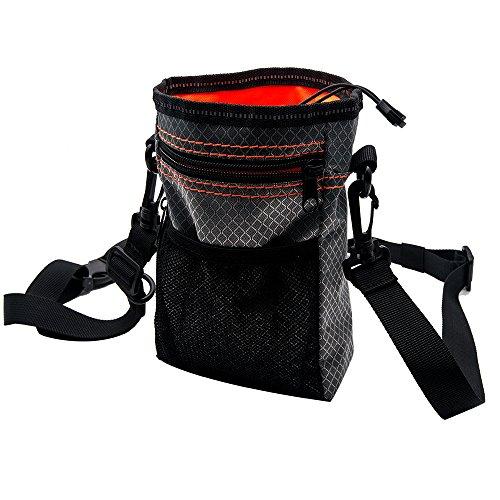 Snack Tasche Nahrungsmittel behandeln Aufbewahrung Halter Pouch Bag Tasche für Haustier Hund Katze Vogel Puppy mit verstellbarem Gürtel AND2Taschen mit Reißverschluss (Trainer Pro Schlüssel)