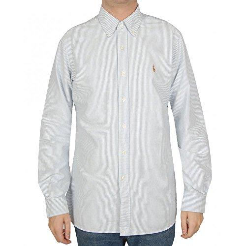 Chemise oxford rayée Ralph Lauren bleu et blanche pour homme Bleu