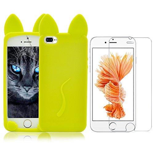 Case per iPhone 7 Plus,Cover per iPhone 7 Plus ,Bonice Ultra Slim Diamante Bling Specchio Glitter Lusso Cristallo Strass Morbida Rubber Bumper 360 Gradi [Rotazione Grip Ring Kickstand] con Supporto De Modello 21