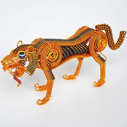 THEALEEWIN Tigre Modelo Escritorio Decoración Alambre De Aluminio Artesanía Decorativa Artesanía Pequeños Regalos