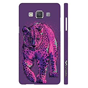 Samsung Galaxy E5 Pink Cheetah designer mobile hard shell case by Enthopia