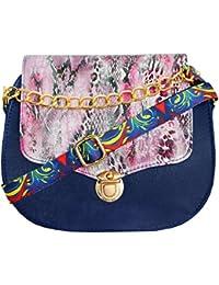 Classic Fashion Womens Blue Color Sling Bag