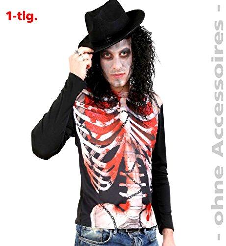 Oberteil, Shirt Zombie mit hochauflösendem Druck, für Halloween, Karneval, Party * NEU bei pibivibi (X-Large)