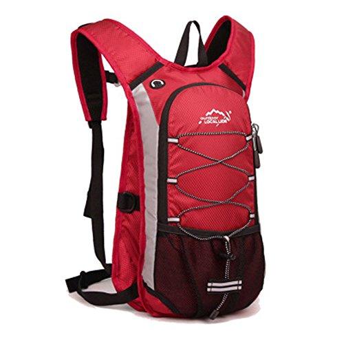 Cuckoo Im Freien Wandern Klettern Rucksack Freizeit Ultraleichte Wasserdichte Outdoor Wanderrucksäcke Radfahren Reiten Reisetaschen, 45 x 25 x 15 cm, 15 Liter Rot
