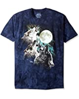 Three Wolf Moon Adult Blue T-shirt