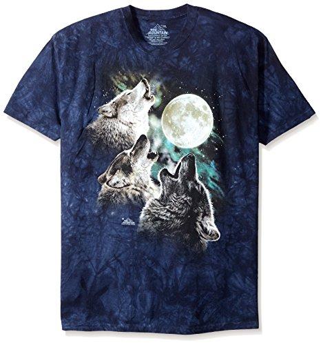 The Mountain Unisex Erwachsen Gr. 4XL 3 Wolf Mond Blau T Shirt