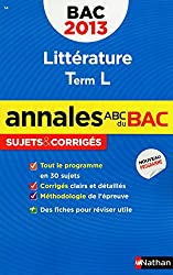 ANNALES BAC 2013 LITTERATURE T