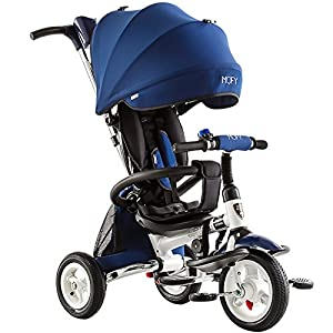 Folding Children Tricycle Bicycles Inflatable Baby Trolley Baby Bike Stroller from CivilWeaEU