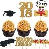 Graduate Cupcake Topper 30Stück/Set, Graduation Party Supplies Dr. Hat Mini Geburtstag Kuchen Snack Dekorationen Picks Herstellern Party Zubehör für Die Graduierung