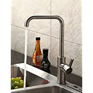 AI LI WEI Bathroom Furniture - Contemporary Stainless Steel Kitchen Faucet (Brushed Chrome Finish)
