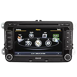 Rupse For VW Volkswagen New BORA /PASSAT /JETTA /GOLF /Scirocco /Tiguan /Touran /Caddy /EOS /Rabbit /SKODA Octavia In-dash DVD Player GPS Sat Nav Navigation Autoradio With 3 Zone POP 3G/WIFI/20 Disc CDC/ DVD Recording/ Phonebook / Handsfree Bluetooth / DVB-T / TMC (Free navi maps)