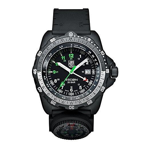 Luminox Men's A.8831.KM Quartz Watch with Black Dial Analogue Display and Black Plastic Strap