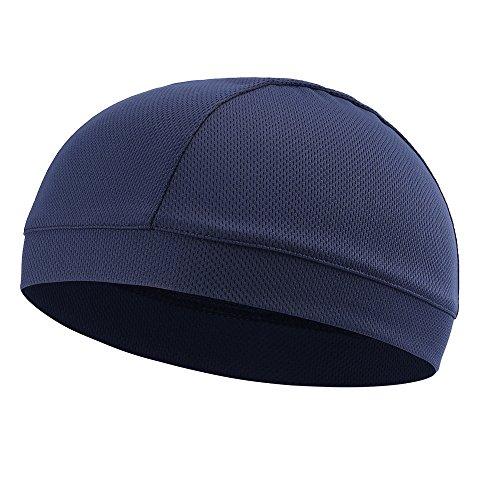 Tofern Skull Cap Unterziehmütze Helmmütze Winddicht atmungsaktiv Sommer Polyester, Dunkelblau - Motorrad Mütze Helme