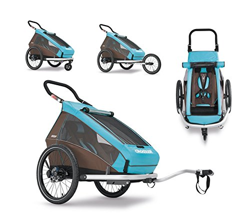 Croozer Kid Plus for 1 sky blue/brown