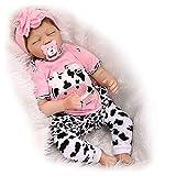 HOOMAI 22inch 55CM realista Dormir reborn muñeca bebé niñas vinilo suave silicona baby doll Niños pequeños baratos Magnetismo Juguetes recien nacidos Cierra tus ojos