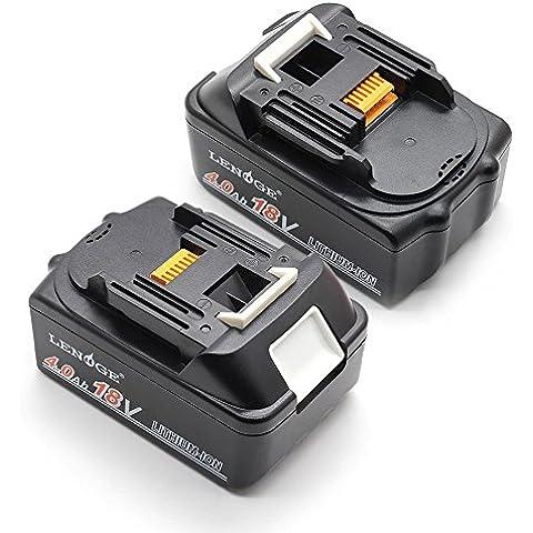 LENOGE Powertool battery 10-cell 4000mAh 18V recargable Batería de repuesto para herramientas La carga rápida para Makita BL1840 MK18 (B) Modelos compatibles: BCL180 BCL180F BCL180W BCL180Z 18 Meses de