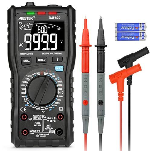 Digital Multimeter Spannungsprüfer AC DC MESTEK Hochgeschwindigkeits Verbrennungsschutz mit inversem VA Bildschirm NCV VFC Volt Ohm Hz Diodenwiderstand Frequenzkapazität Geschenk