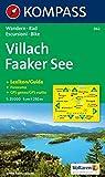 Villach, Faaker See: Wander- und Bikekarte. Carta escursioni e bike. Mit Panorama. GPS-genau. 1:25.000