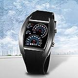 vcbbvghjghkhj-UK Sport RPM Blu e Bianco Flash LED Car Speed Meter quadrante Uomini Regalo Watch-