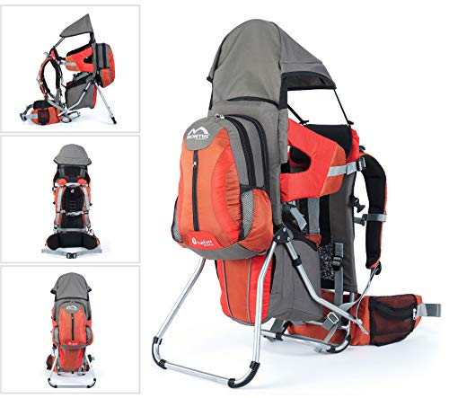 Montis Explore Evolution ORANGE Babytragerucksack (Kindertrage Babytrage Tragerucksack Kinder-kraxe Kindertragerucksack Rückentrage Wandertrage Krakse Baby Carrier Rucksacktrage Trage-Rucksack Kindersitz Trage Rücken Toddler Carrier)