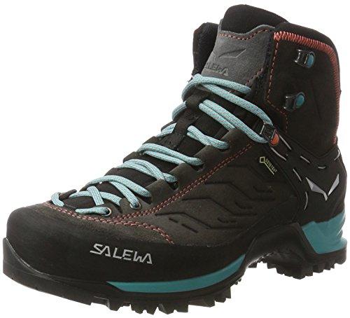 SALEWA Damen Mtn Trainer Mid Gore-Tex Bergschuh, Scarpe da Escursionismo Donna Multicolore (Magnet/viridian Green)