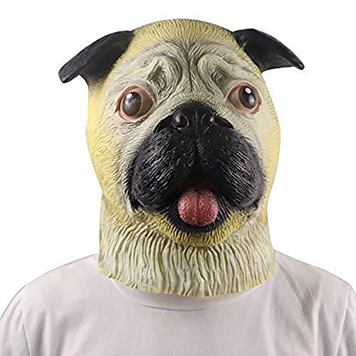 Wolf Maske, Wolf Voll Overhead Maske, Neuheit Deluxe Kostüm Party Latex Tierkopf Maske für Halloween Erwachsene (Deluxe Wolf Maske)