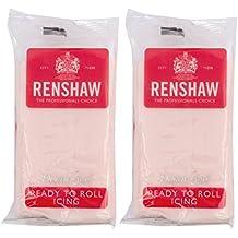 Renshaw Baby Rosa bereit zu Rolle Zuckerguss 500g (2x 250g Pakete)