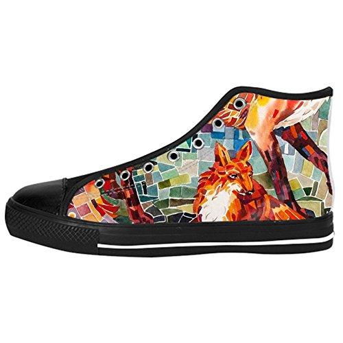 Dalliy Fox Men's Canvas Shoes Lace-up High-top Footwear Sneakers Chaussures de toile Baskets B