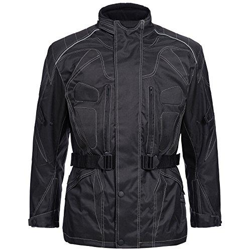 *Motorradjacke Cordura Textil Roller Quad Biker Touring SCHWARZ Gr. M L XL XXL 3XL 4XL Neu Limitless (4XL)*