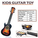 WISHKEY 6 String Plastic Guitar Toy 21 inch with Pick (Brown)