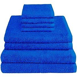 Set di asciugamani da bagno in 100/% cotone egiziano colore: blu navy 10 pezzi SeventhStitch