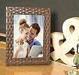 #7: Brown Bar Table Wood Photo Frame (24.1 cm x 19.6 cm x 7.8 cm, Brown)