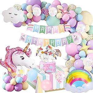 Unicornio Globos Decoración Cumpleaños Niña,