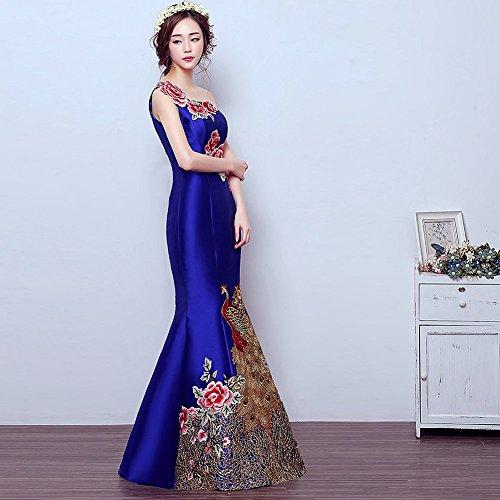 Drasawee - Robe - Moulante - Femme Bleu