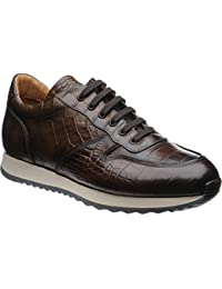 Chaucer Hareng De Hareng - Chaussures À Lacets Marron Pour Les Hommes Alligator Noir, Brun, Taille 39,5 Eu
