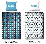 Character World Fortnite Parure de lit avec Housse de Couette 135 x 200 cm et taie d'oreiller 80 x 80 cm Motif la-Lama Epic Games ofizielles