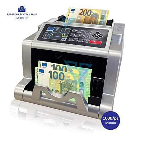 Conta banconote valore euro rilevatore soldi falsi aggiornabile e conta ticket
