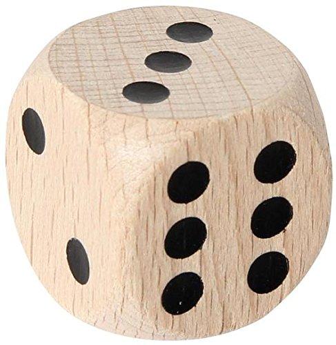 Augenwrfel-30-mm-Holz-natur Augenwürfel 30 mm, Holz, Natur – 1 Stück -