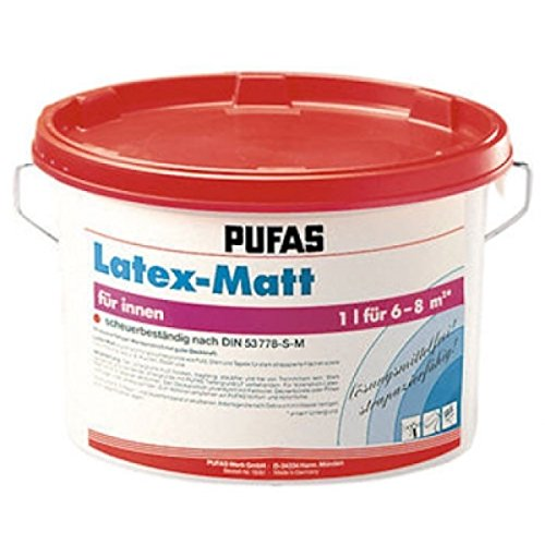 Pufas Latexfarbe matt 5L Mattlatex Dispersionfarbe Wandfarbe
