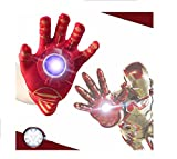 #8: Parteet Iron Man Single Hand Musical Glove for kids, Red