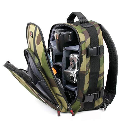 Wasserabweisend Rucksack mit anpassbare Innen + Regenschutz (Camo) für destek V2VR Headset-von DURAGADGET Slr Gadget Bag